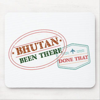 Bhutan Been There Done That Mouse Pad