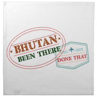 Bhutan Been There Done That Napkin