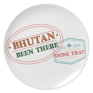 Bhutan Been There Done That Plate