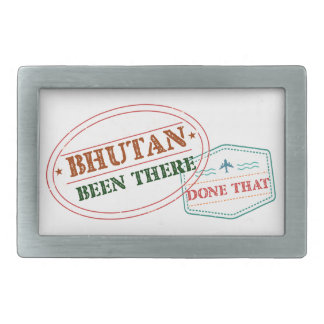 Bhutan Been There Done That Rectangular Belt Buckle