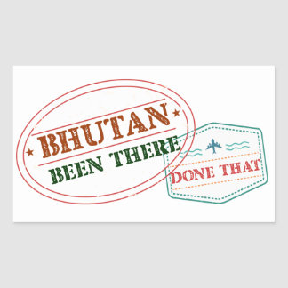Bhutan Been There Done That Sticker