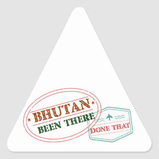 Bhutan Been There Done That Triangle Sticker