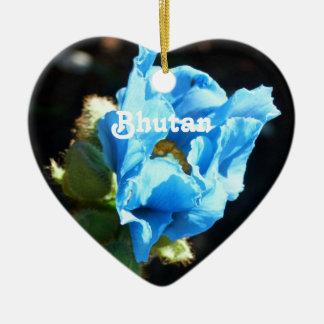 Bhutan Blue Poppy Ceramic Ornament