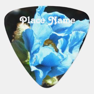 Bhutan Blue Poppy Guitar Pick