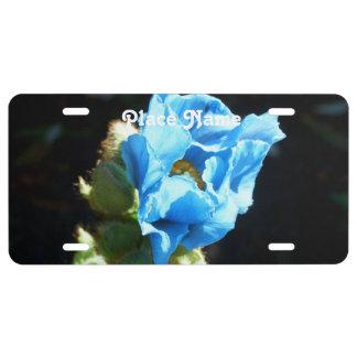Bhutan Blue Poppy License Plate
