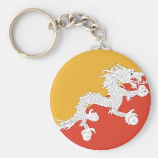 Bhutan dragon basic round button keychain