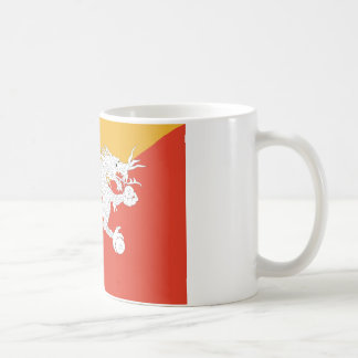 Bhutan dragon basic white mug