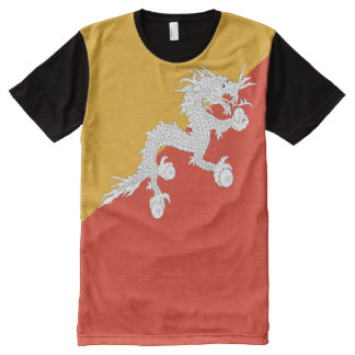 Bhutan Flag full All-Over-Print T-Shirt