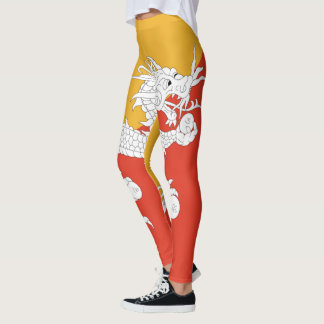 Bhutan Flag full Leggings