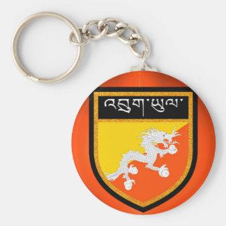 Bhutan Flag Keychain