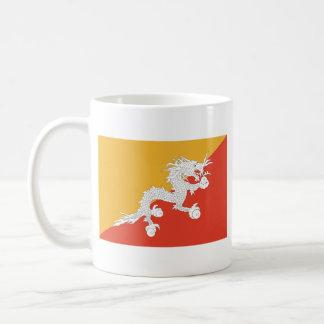 Bhutan Flag ~ Map Mug