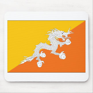 Bhutan Flag Mouse Pad