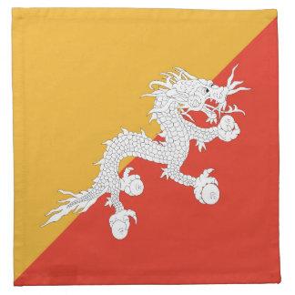 Bhutan Flag Napkin