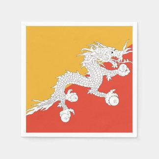 Bhutan Flag Paper Napkin