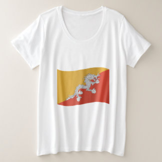 Bhutan Flag Plus Size T-Shirt