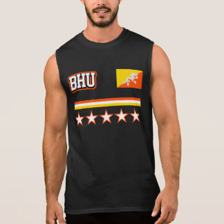 Bhutan Flag Sleeveless Shirt