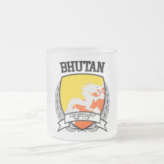 Bhutan Frosted Glass Coffee Mug