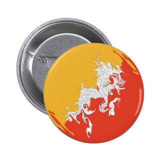 Bhutan Gnarly Flag Pinback Buttons