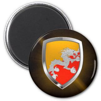 Bhutan Metallic Emblem Magnet