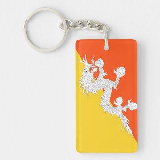 Bhutan National World Flag Keychain
