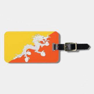 Bhutan National World Flag Luggage Tag