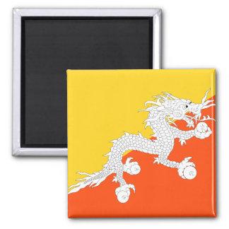 Bhutan National World Flag Magnet
