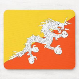Bhutan National World Flag Mouse Pad