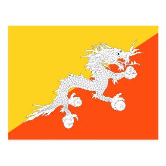 Bhutan National World Flag Postcard