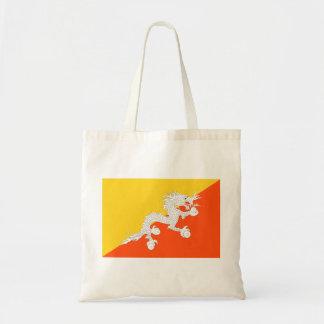 Bhutan National World Flag Tote Bag