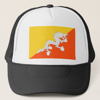 Bhutan National World Flag Trucker Hat