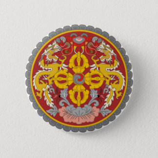 Bhutan Official Coat Of Arms Heraldry Symbol 2 Inch Round Button