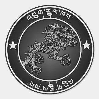 Bhutan  Round Emblem Classic Round Sticker