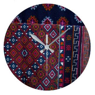 Bhutanese Rugs Large Clock