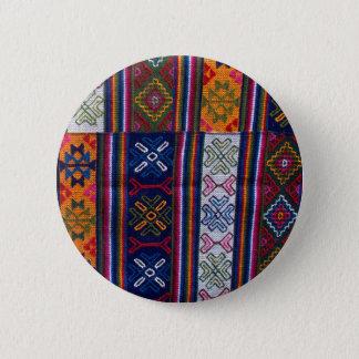 Bhutanese Textile 2 Inch Round Button