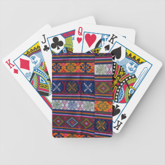 Bhutanese Textile Bicycle Playing Cards