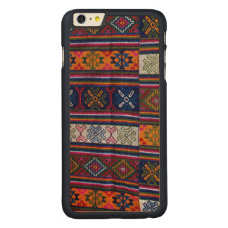 Bhutanese Textile Carved Maple iPhone 6 Plus Case