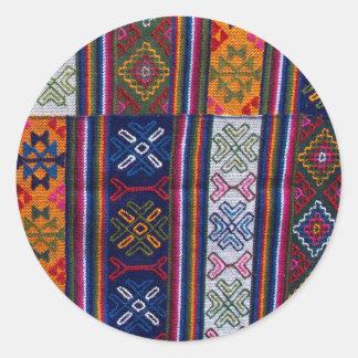 Bhutanese Textile Classic Round Sticker