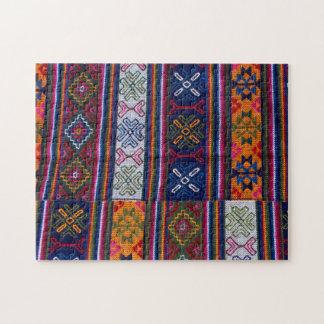 Bhutanese Textile Jigsaw Puzzle