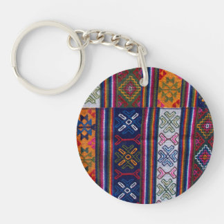 Bhutanese Textile Keychain
