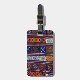 Bhutanese Textile Luggage Tag