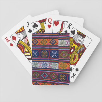 Bhutanese Textile Playing Cards
