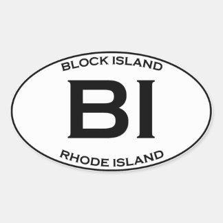 BI - Block Island Rhode Island Oval Sticker