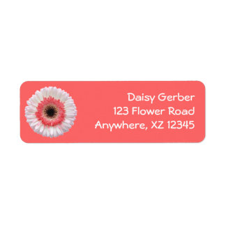 Bi-Color Gerber Daisy Return Address Label