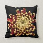 Bi-coloured Chrysanthemum throw pillow