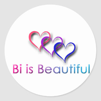 Bi is Beautiful White Sticker
