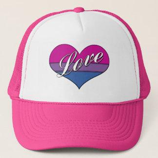 Bi Love Heart Trucker Hat