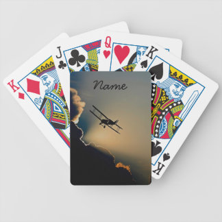 Bi Plane Sky Bicycle Playing Cards