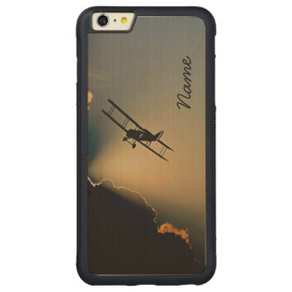 Bi Plane Sky Carved Maple iPhone 6 Plus Bumper Case