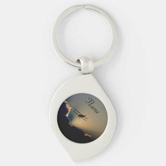 Bi Plane Sky Keychain
