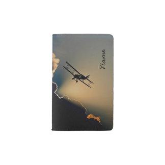 Bi Plane Sky Pocket Moleskine Notebook